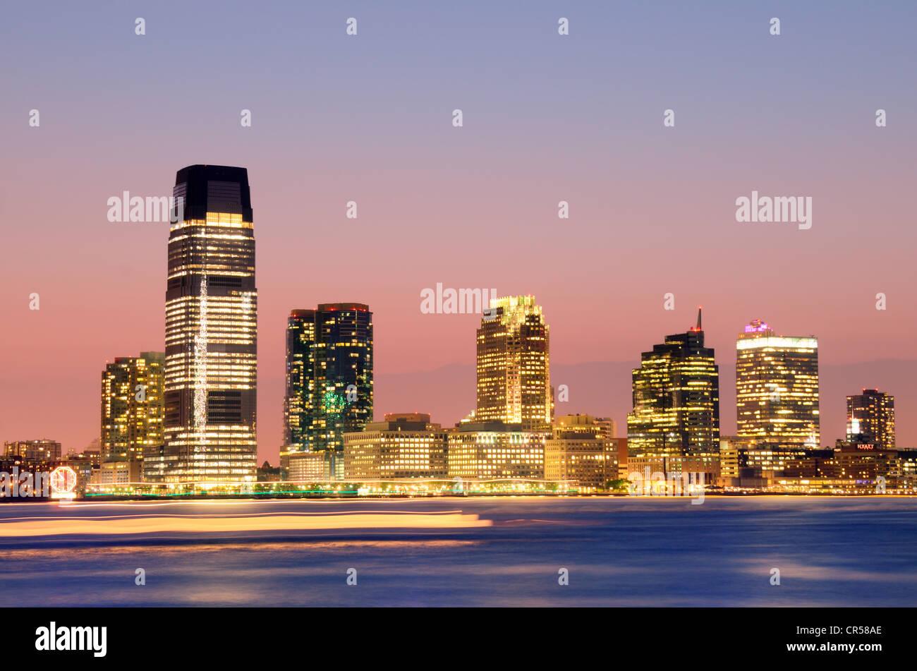 Exchange Place en Jersey City, Nueva Jersey, EE.UU.. Imagen De Stock