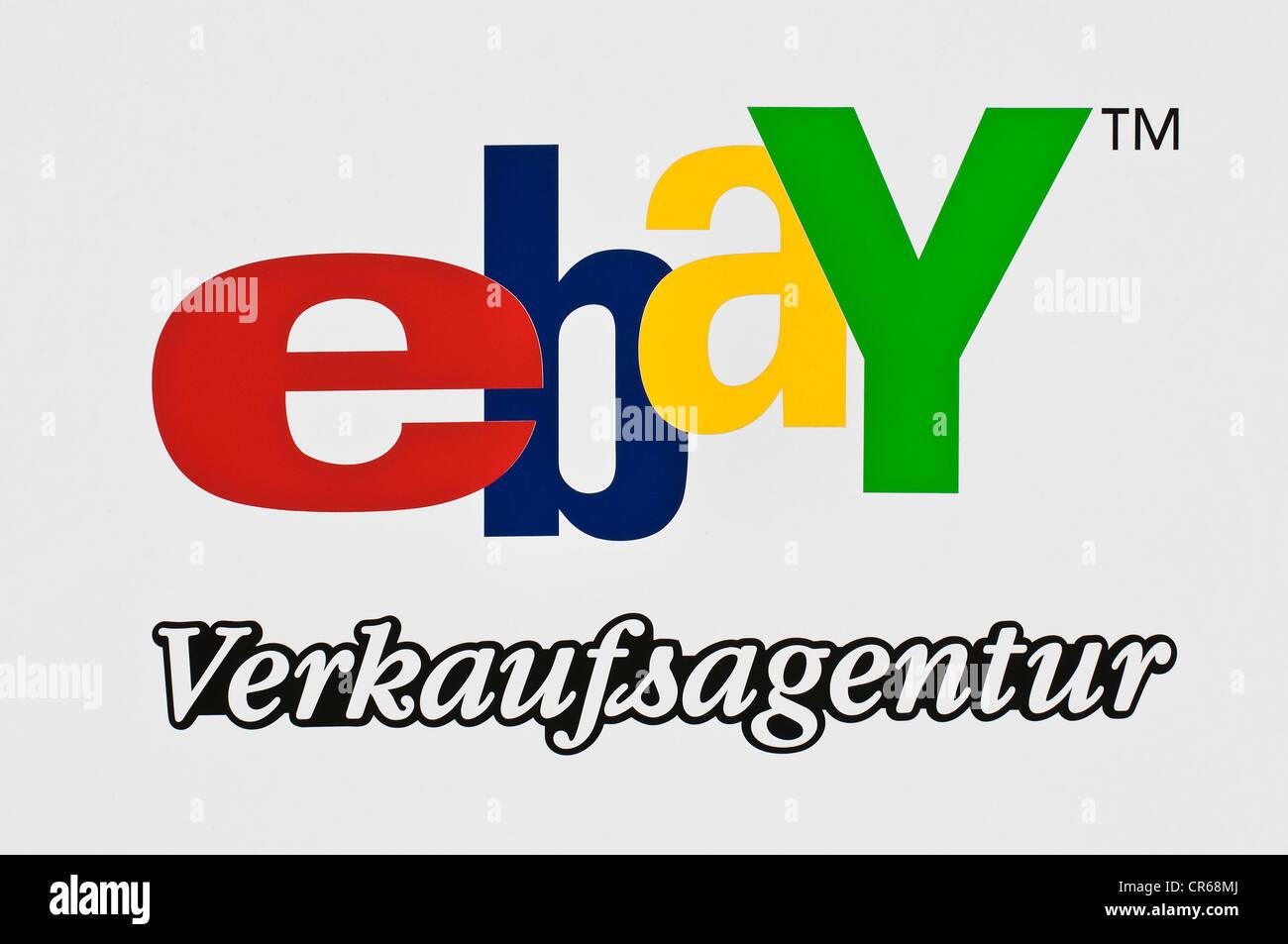 Firmar, Ebay, sitio de subastas en línea tm Foto de stock