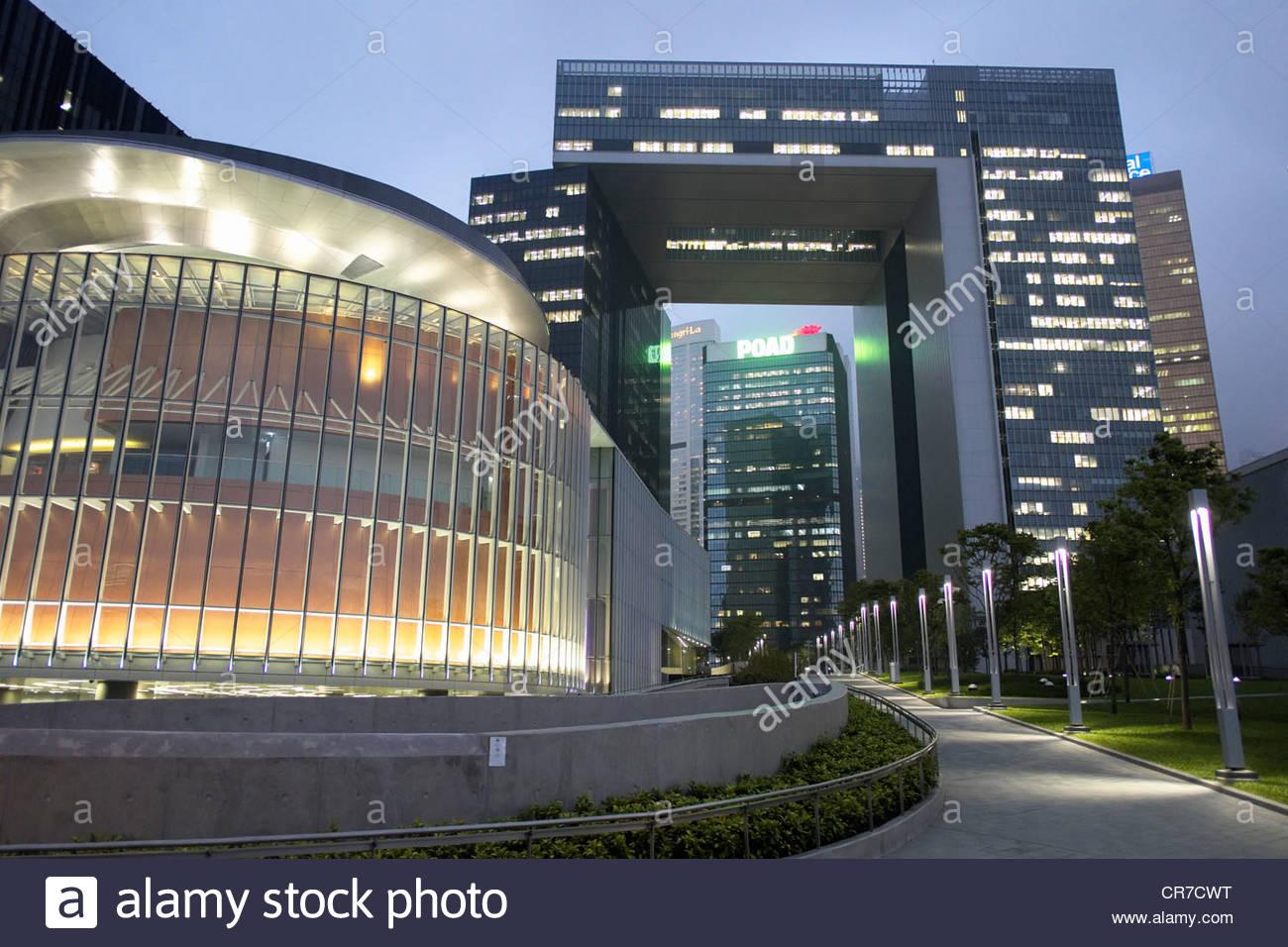 Nuevos edificios de oficinas para el servicio civil del Gobierno de Hong Kong en Admiralty Hong Kong Imagen De Stock