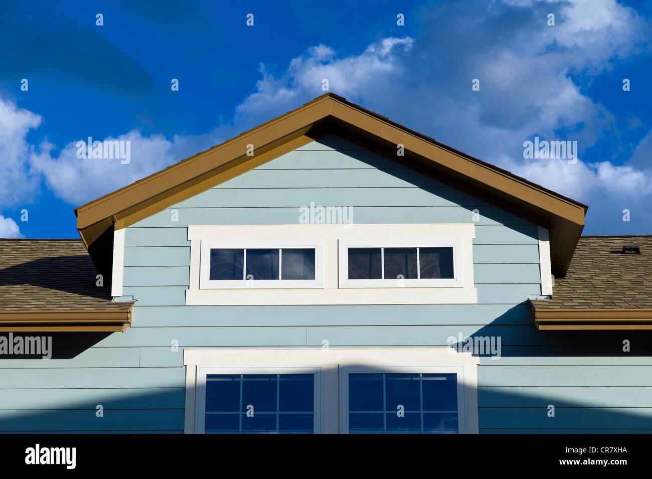 Carriage House en un garaje, casa residencial de estilo Craftsman en Colorado, EE.UU. Imagen De Stock