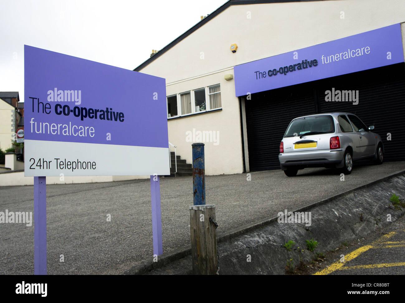 La compañía funeralcare Co-Operative, REINO UNIDO Imagen De Stock
