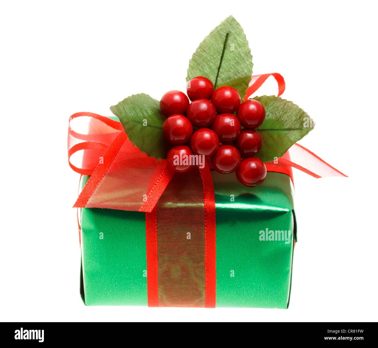Regalo de Navidad (Caja de regalo) Imagen De Stock