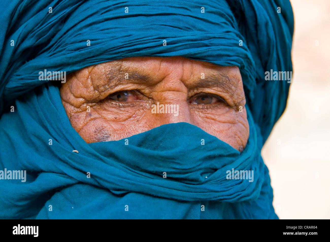 Hombre Tuareg, retrato, Essendilene, Argelia, África Imagen De Stock