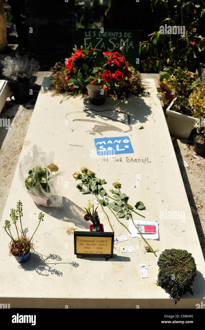 Tumba de Emmanuel Cabut, también conocido como mano solo, el cementerio Pere Lachaise, en París, Francia, Imagen De Stock