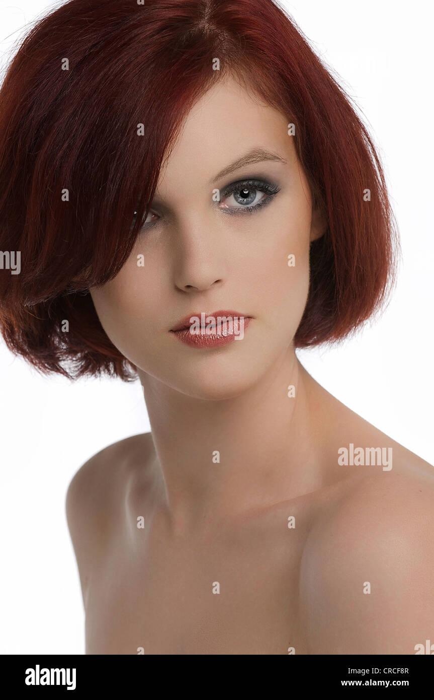 """Australia's Next Top Model' contendiente Kimberly Thrupp, Retrato Foto de stock"