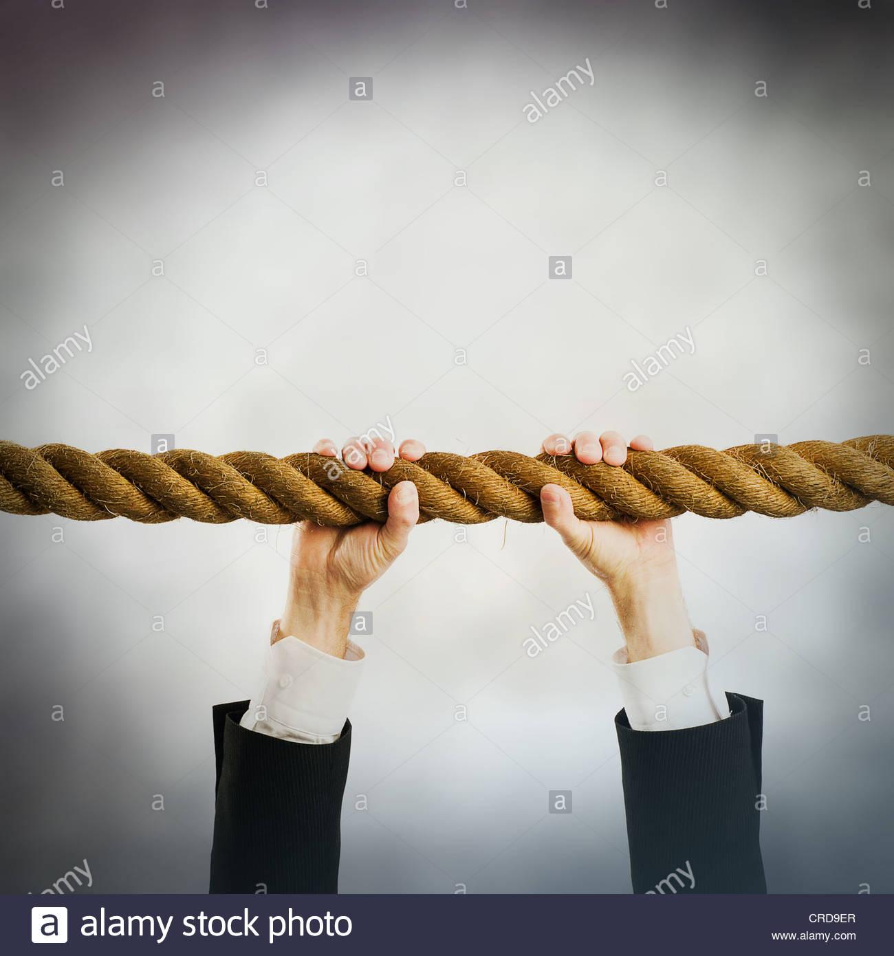 cuerda de seguridad Imagen De Stock