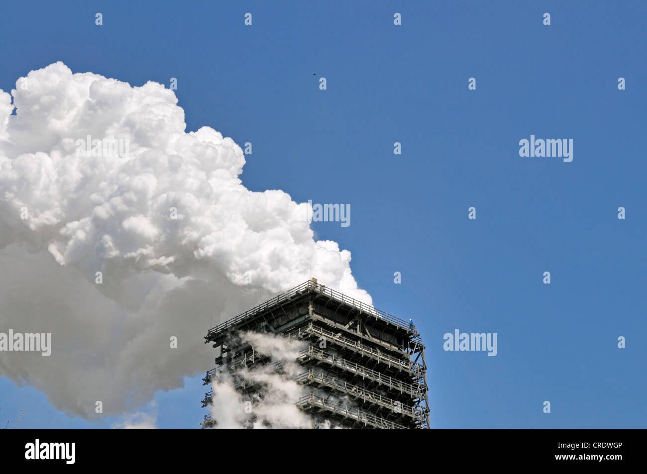 Torre de enfriamiento húmedo sur, proyecto Kokerei Schwelgern, planta de coquización, ThyssenKrupp Steel Imagen De Stock