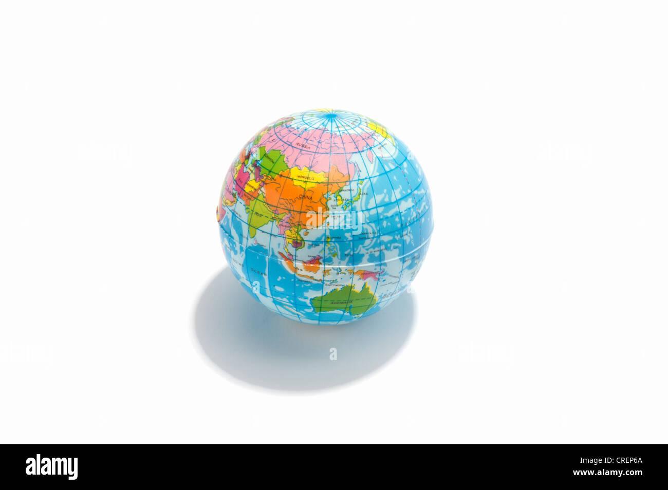 Un globo de juguete, mostrando Asia y Australia Foto de stock