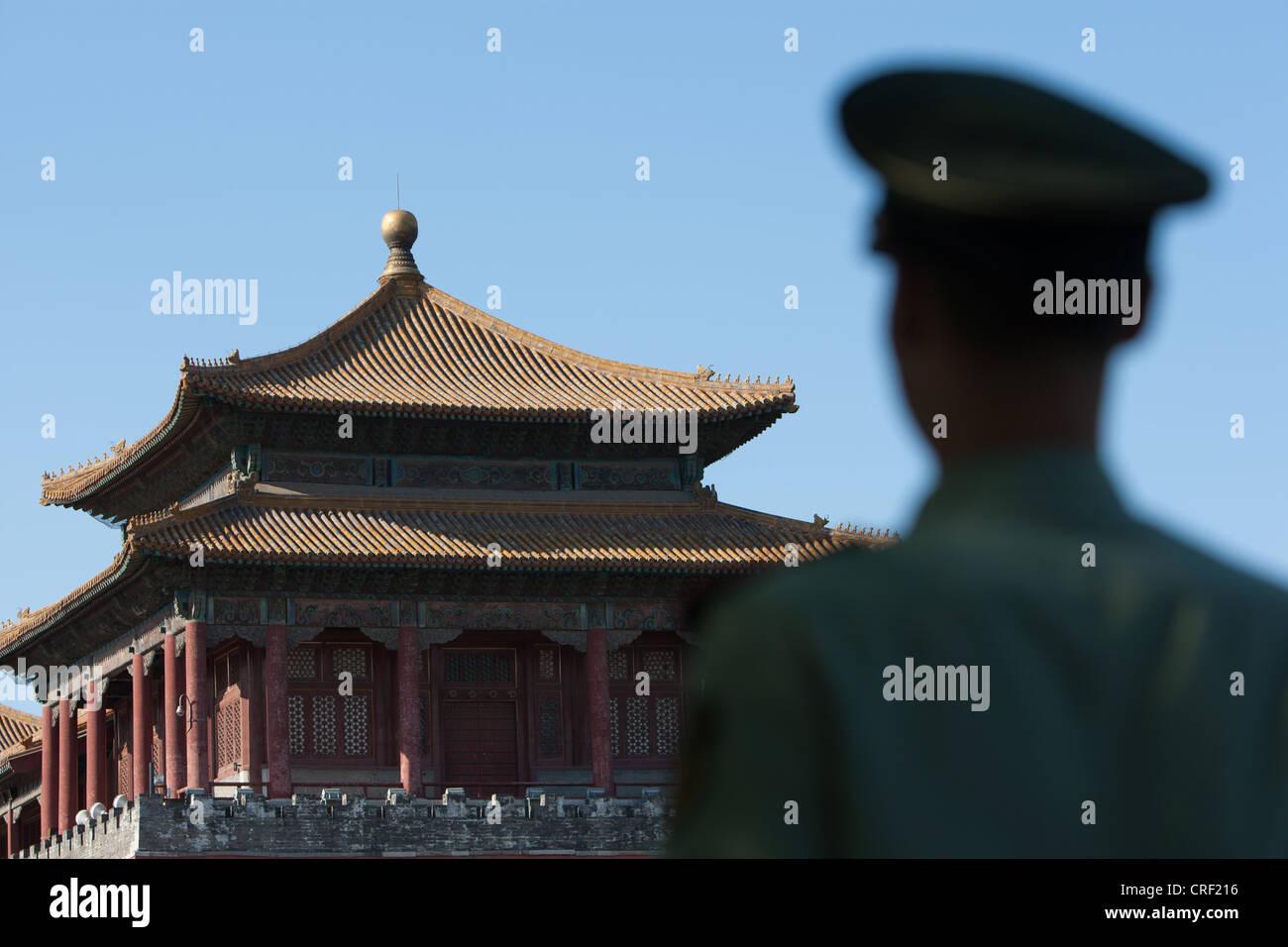 La ciudad prohibida, en Beijing, China Foto de stock