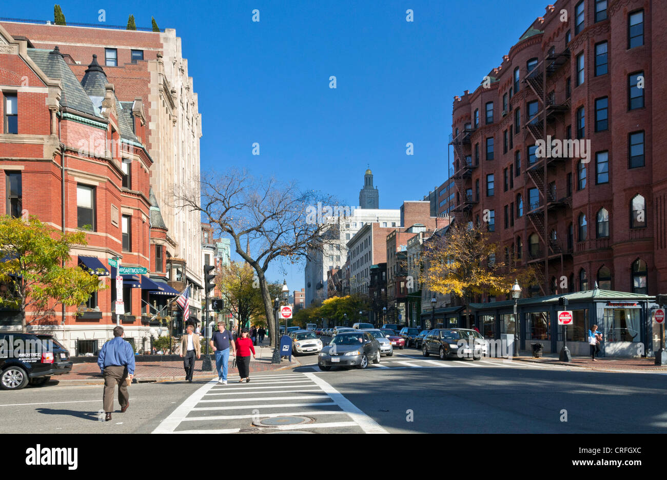 Newbury Street, Boston, Massachusetts, EE.UU. Imagen De Stock