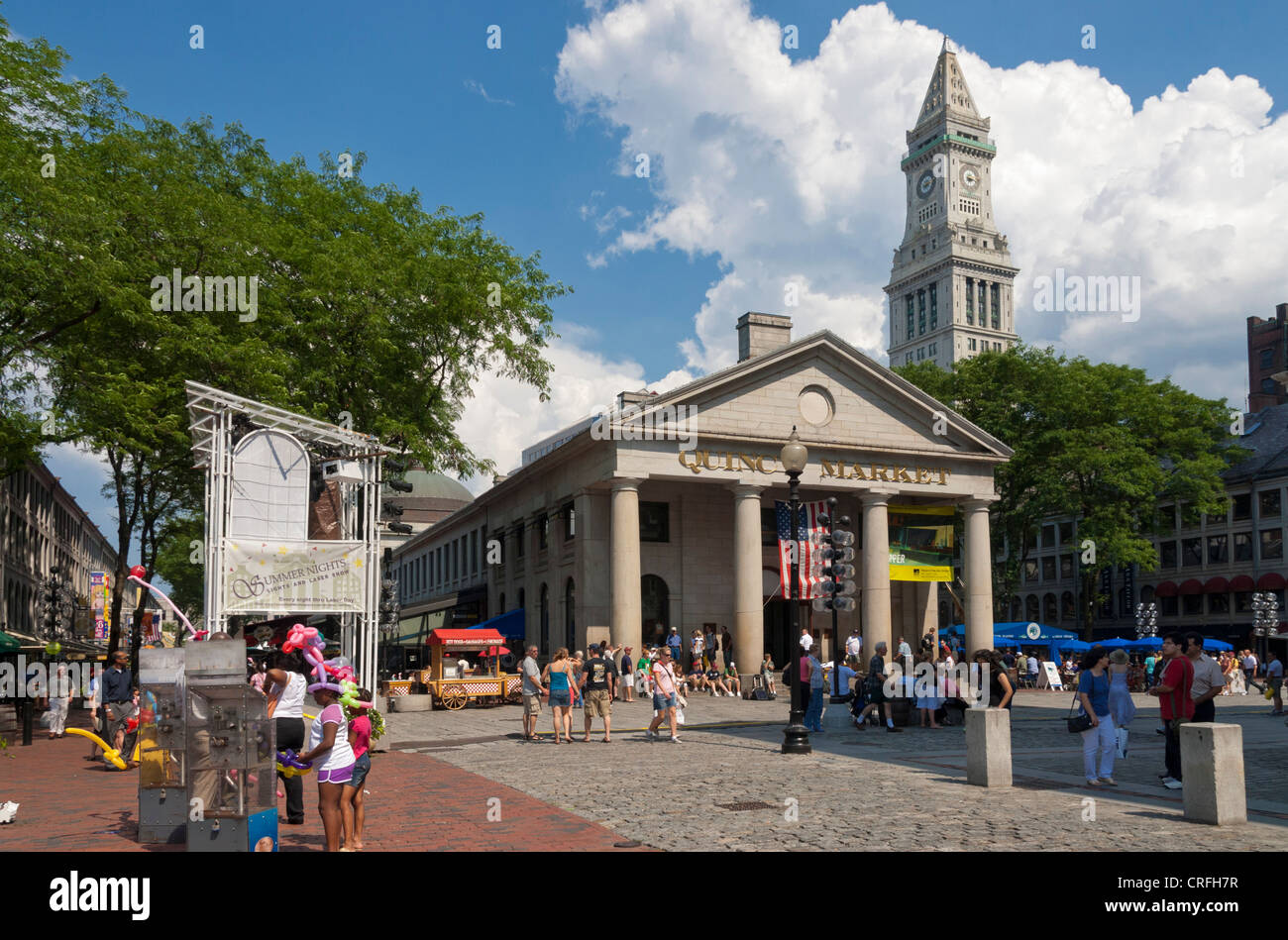 Mercado de Quincy, Boston, Massachusetts, EE.UU. Imagen De Stock