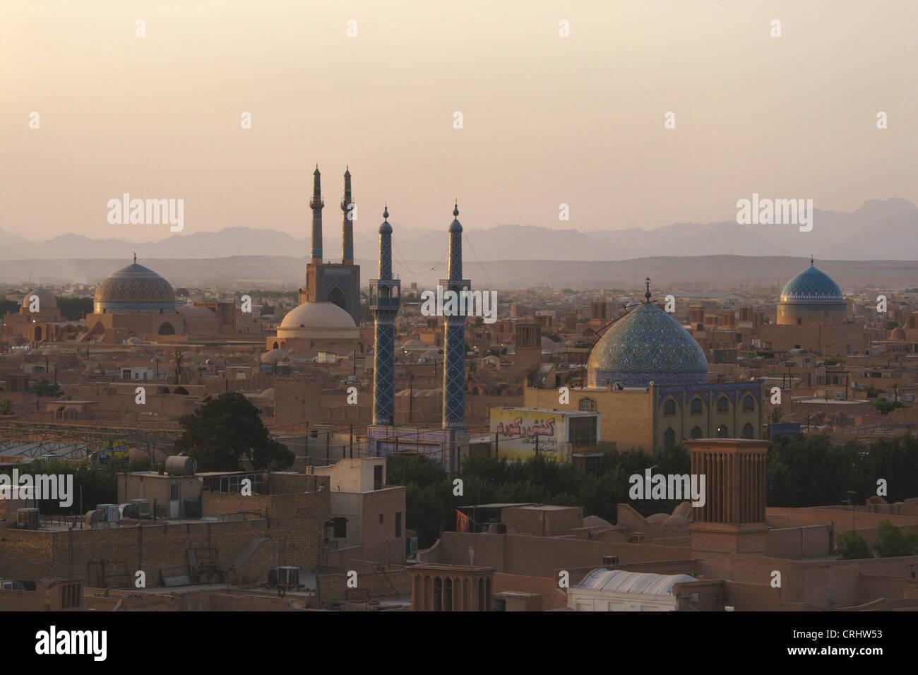 Vistas de la ciudad de Yazd, Irán Yazd Imagen De Stock