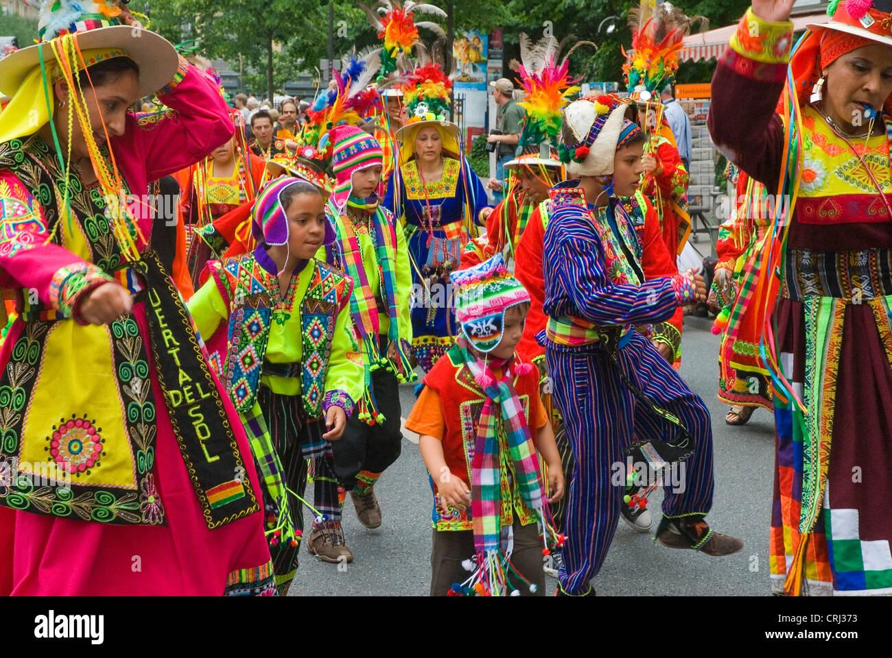 Desfile de las Culturas, Alemania, Hesse, Frankfurt am Main Imagen De Stock
