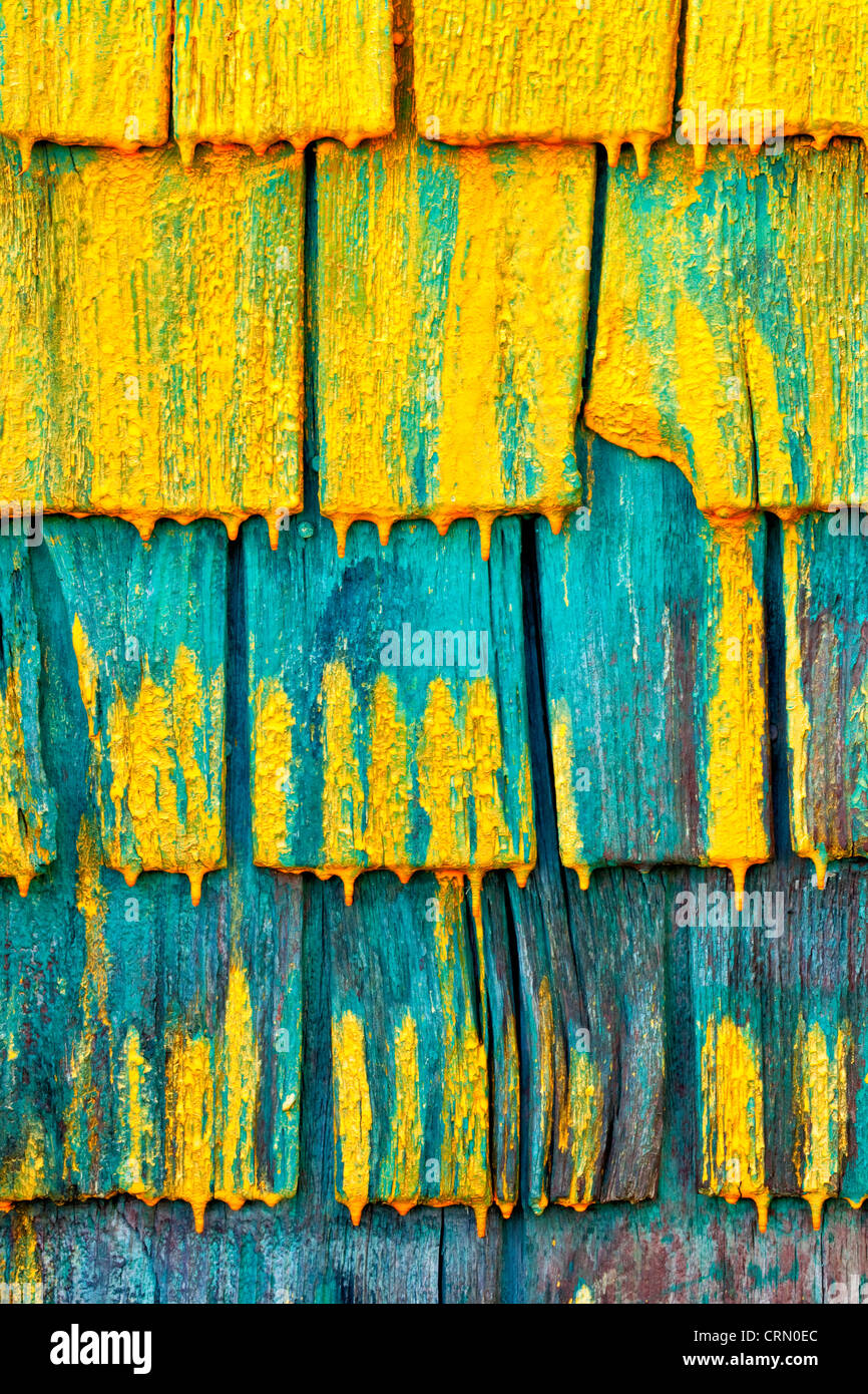 Muro de un pescador Shingled vertió en Nova Scotia, Canadá. Imagen De Stock