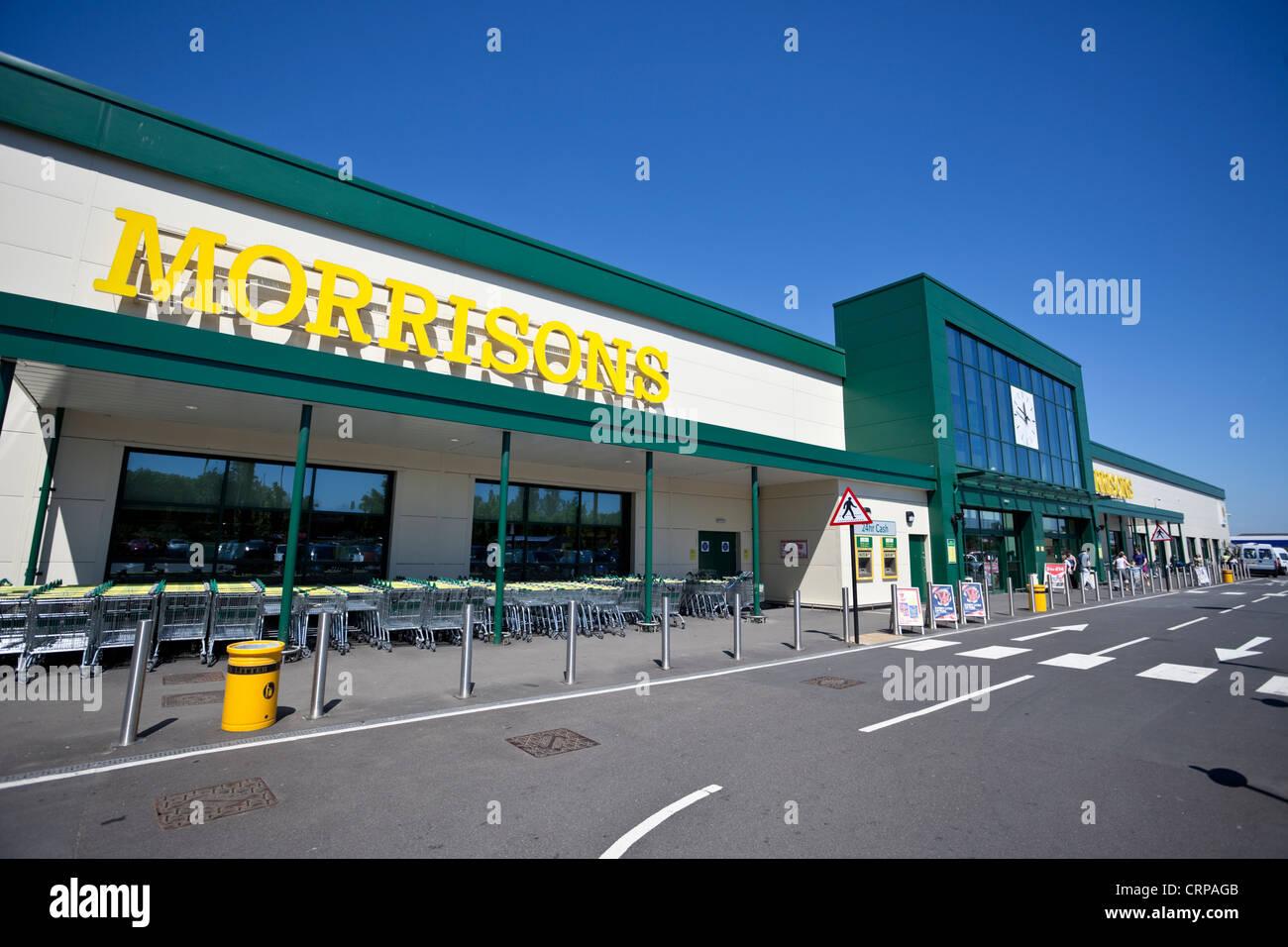 Supermercado Morrison, Borehamwood, Hertfordshire, Inglaterra, Reino Unido. Imagen De Stock