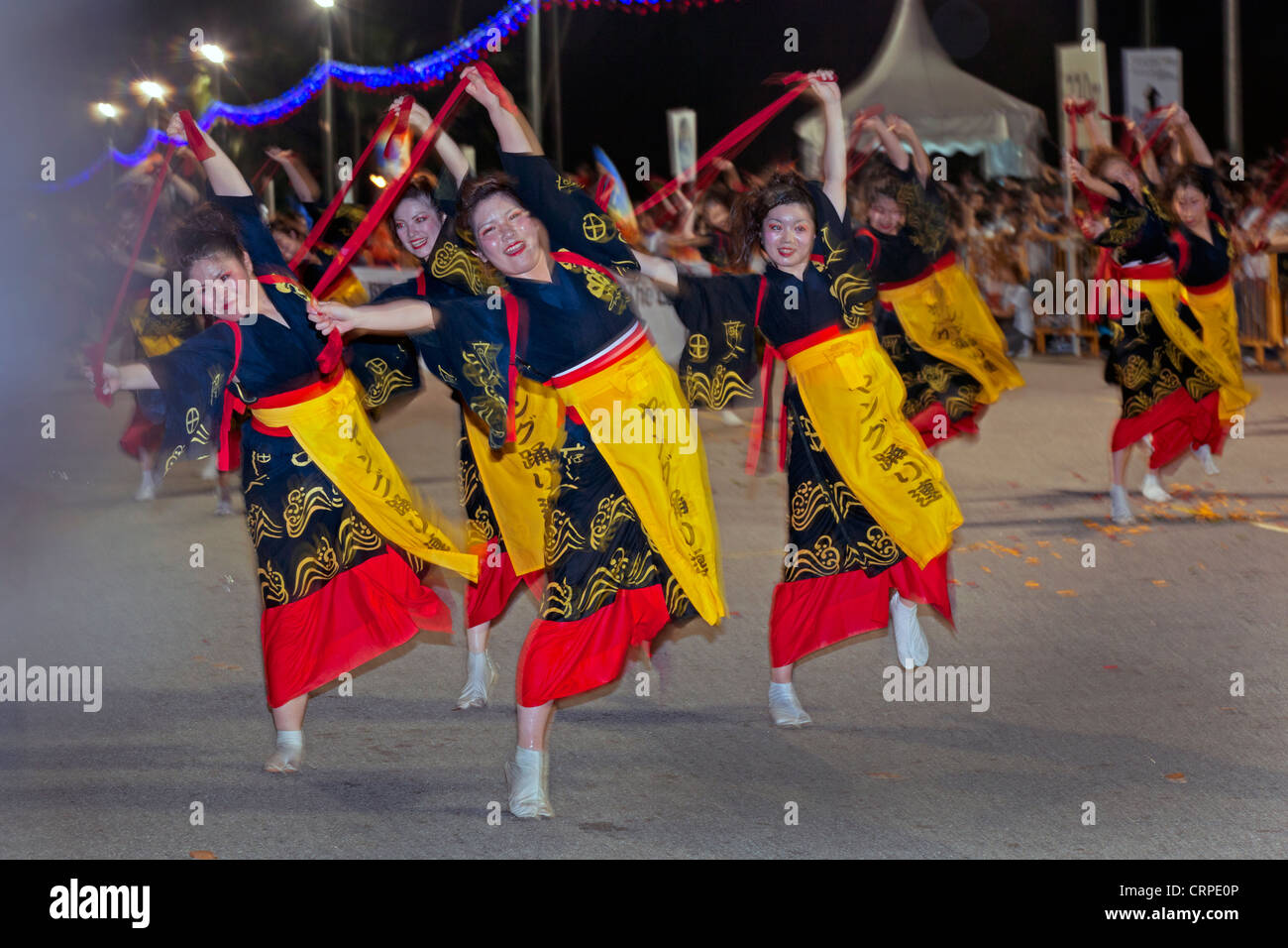 Sudeste Asiatico Singapur Desfile Chingay Anuales Tienen Lugar