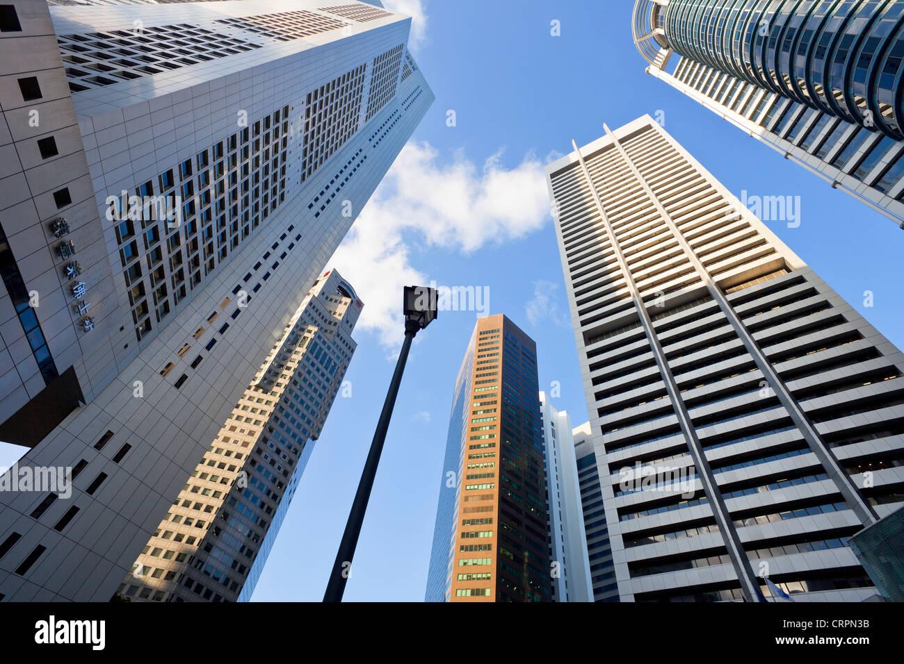 Sudeste asiático, Singapur, CDB, edificios de oficinas del centro financiero Imagen De Stock