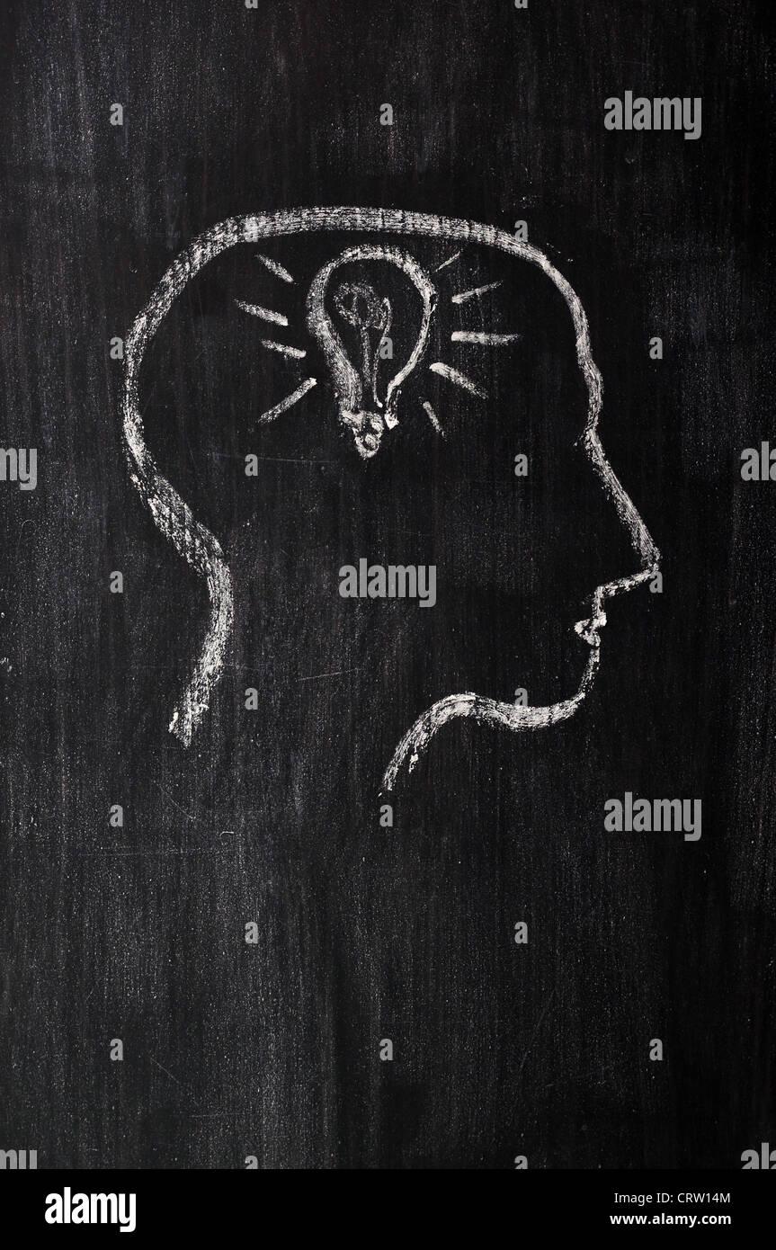 Anatomía biología atractivo blackboard cerebro brainstorm brillante ...