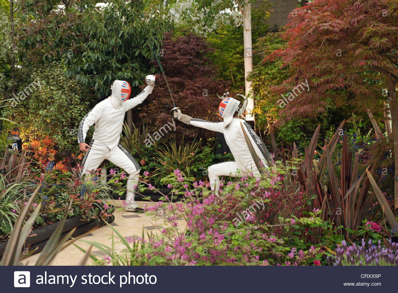 Hillier Viveros de duelo y la corona show garden en RHS Chelsea Flower Show 2012 Foto de stock