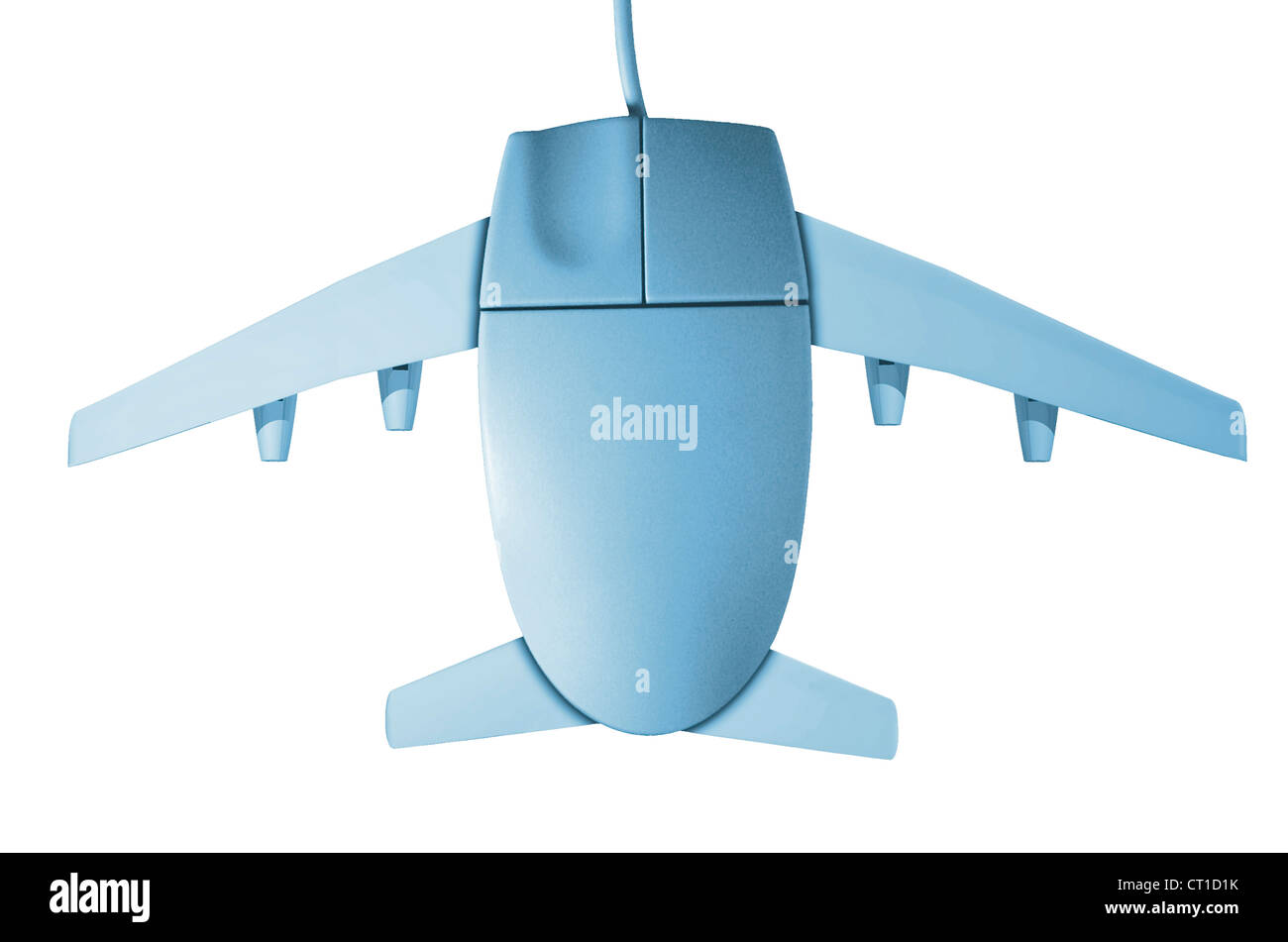 Equipo Maus mit Flugzeugflügeln Imagen De Stock
