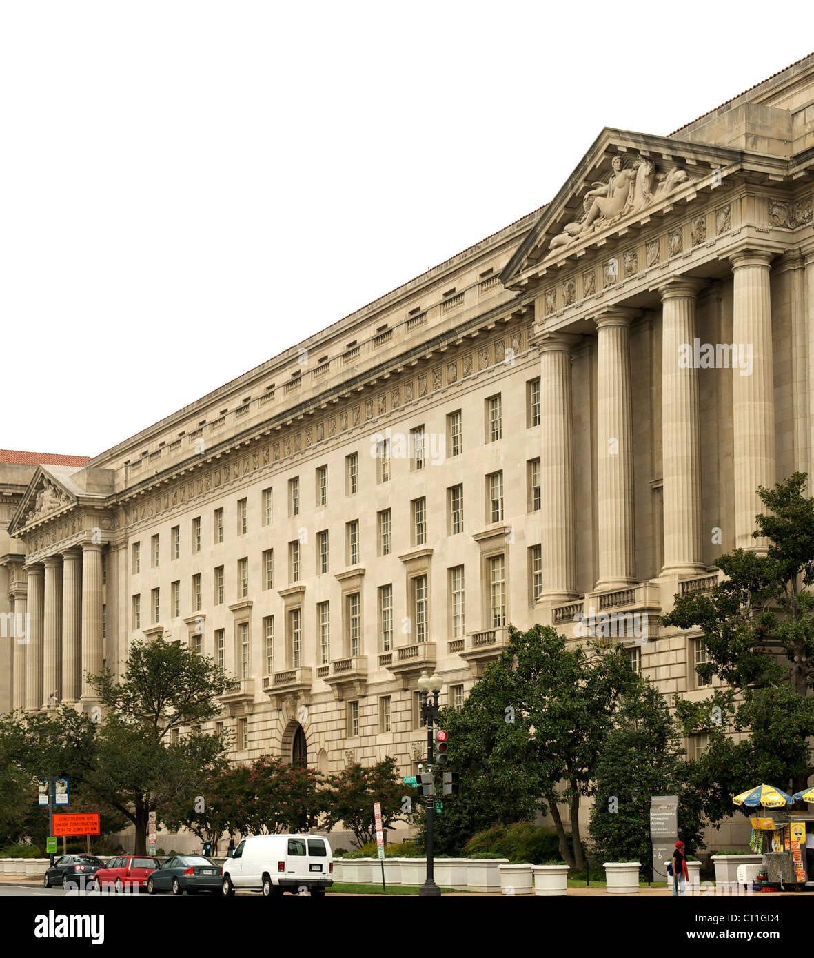 El edificio de la Agencia de Protección Ambiental en Washington DC, Estados Unidos. Imagen De Stock