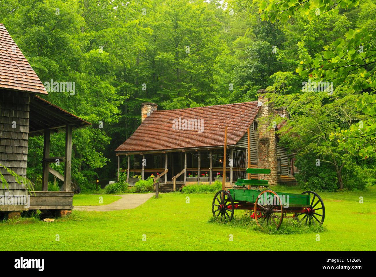 Biltmore Forest School en cuna de Silvicultura, Brevard, Carolina del Norte, EE.UU. Imagen De Stock