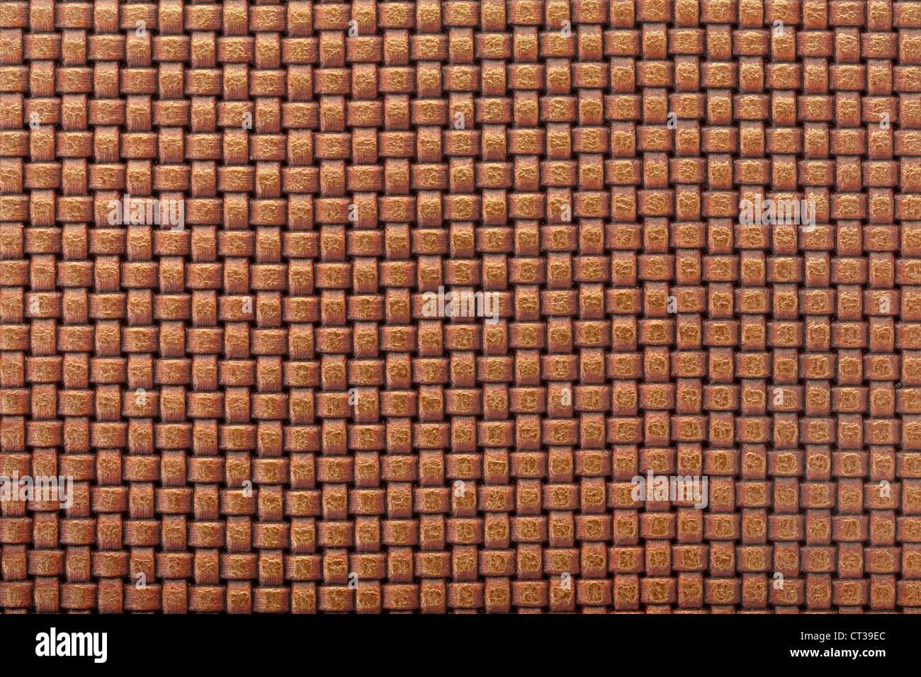 Fondo de cuero con diseño entrelazado Imagen De Stock