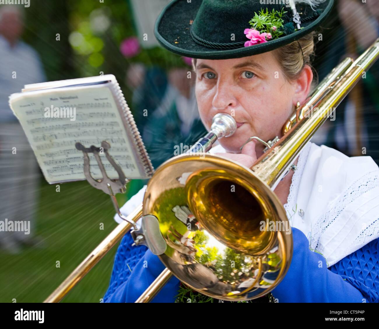 DE - Baviera: 85ª Loisachgaufest en Bad Toelz (28 de junio al 02 de julio de 2012). Foto de stock