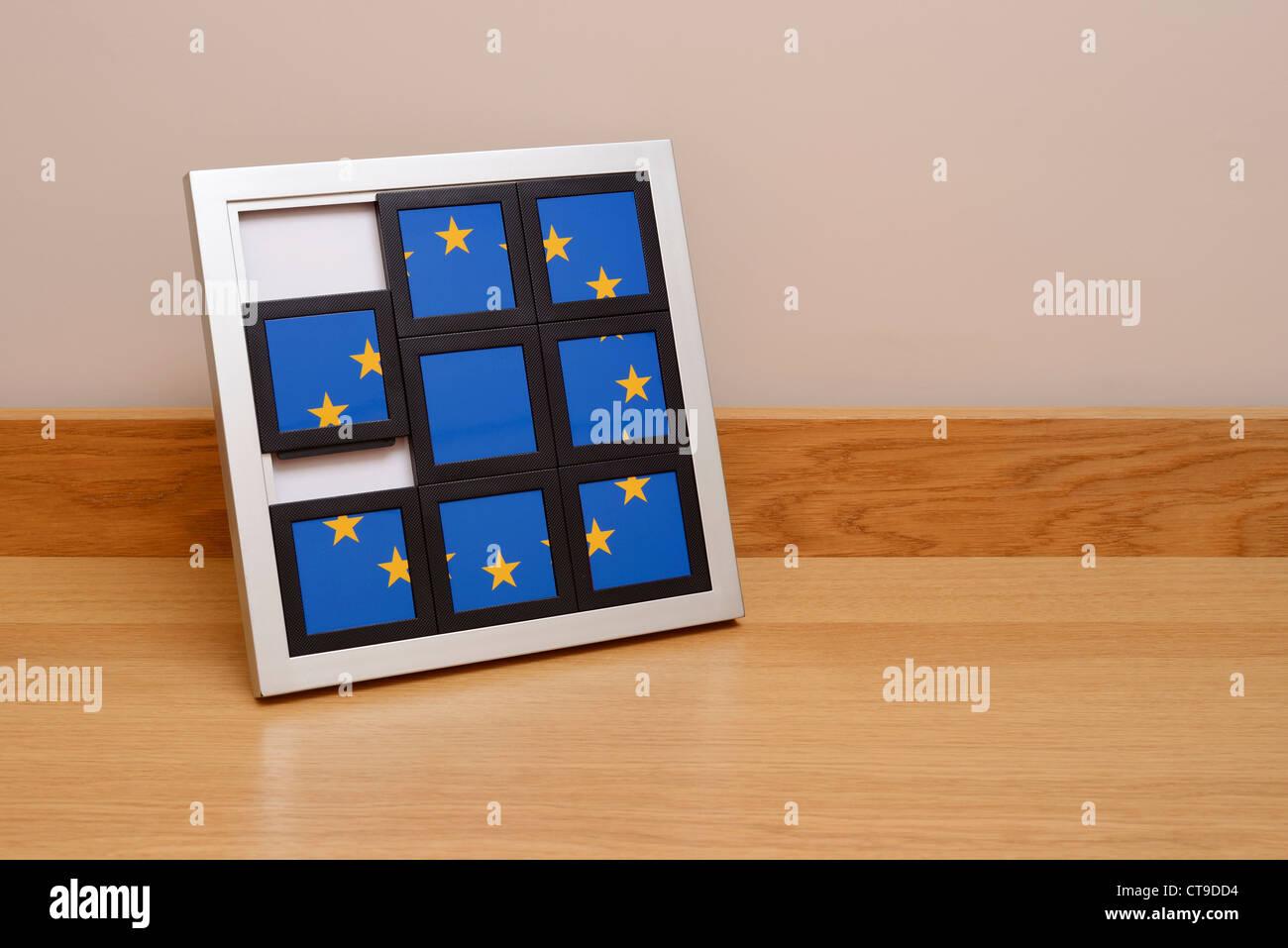 Europa la UE bandera dividir concepto Imagen De Stock