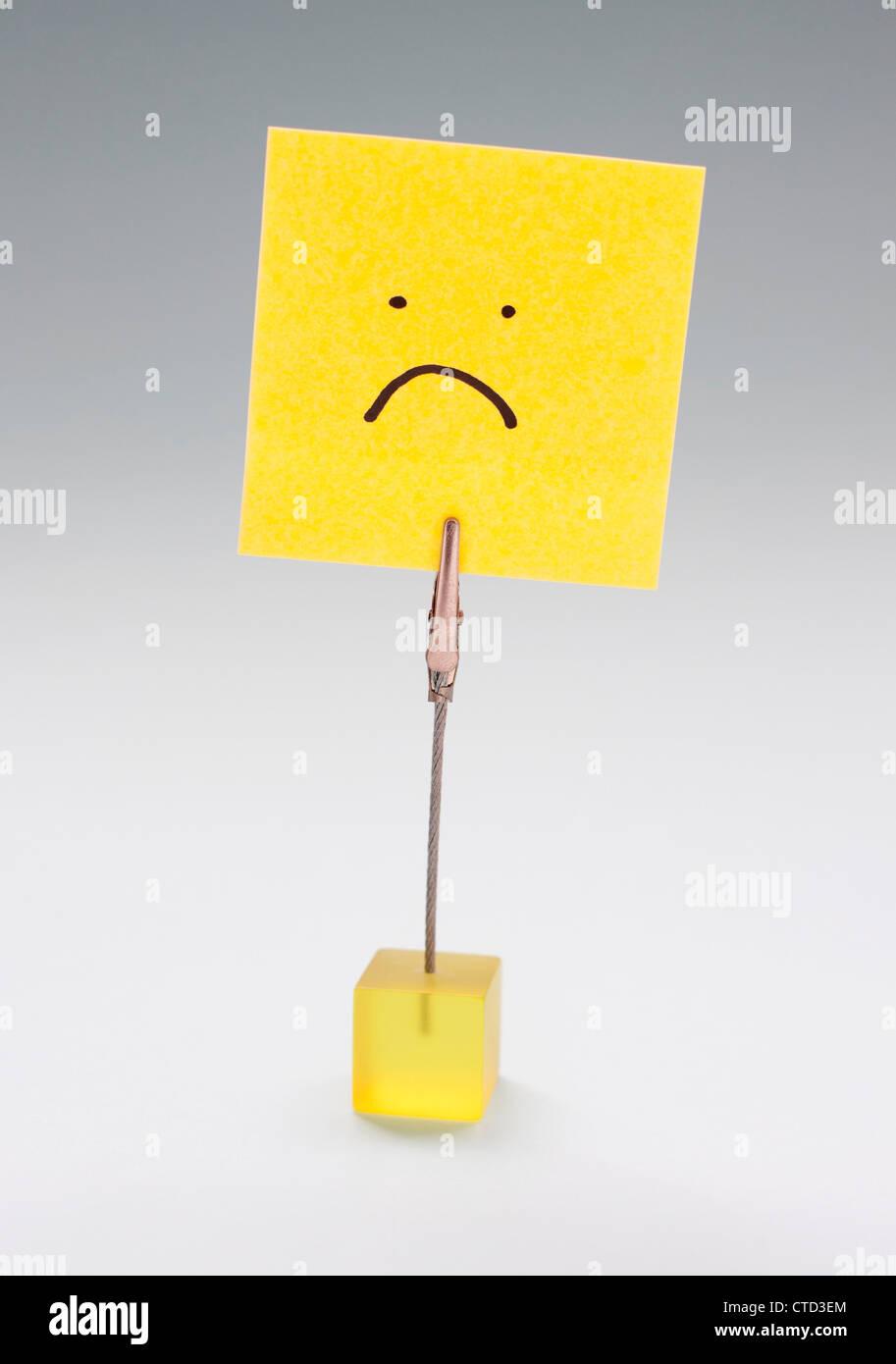 La infelicidad imagen conceptual Imagen De Stock