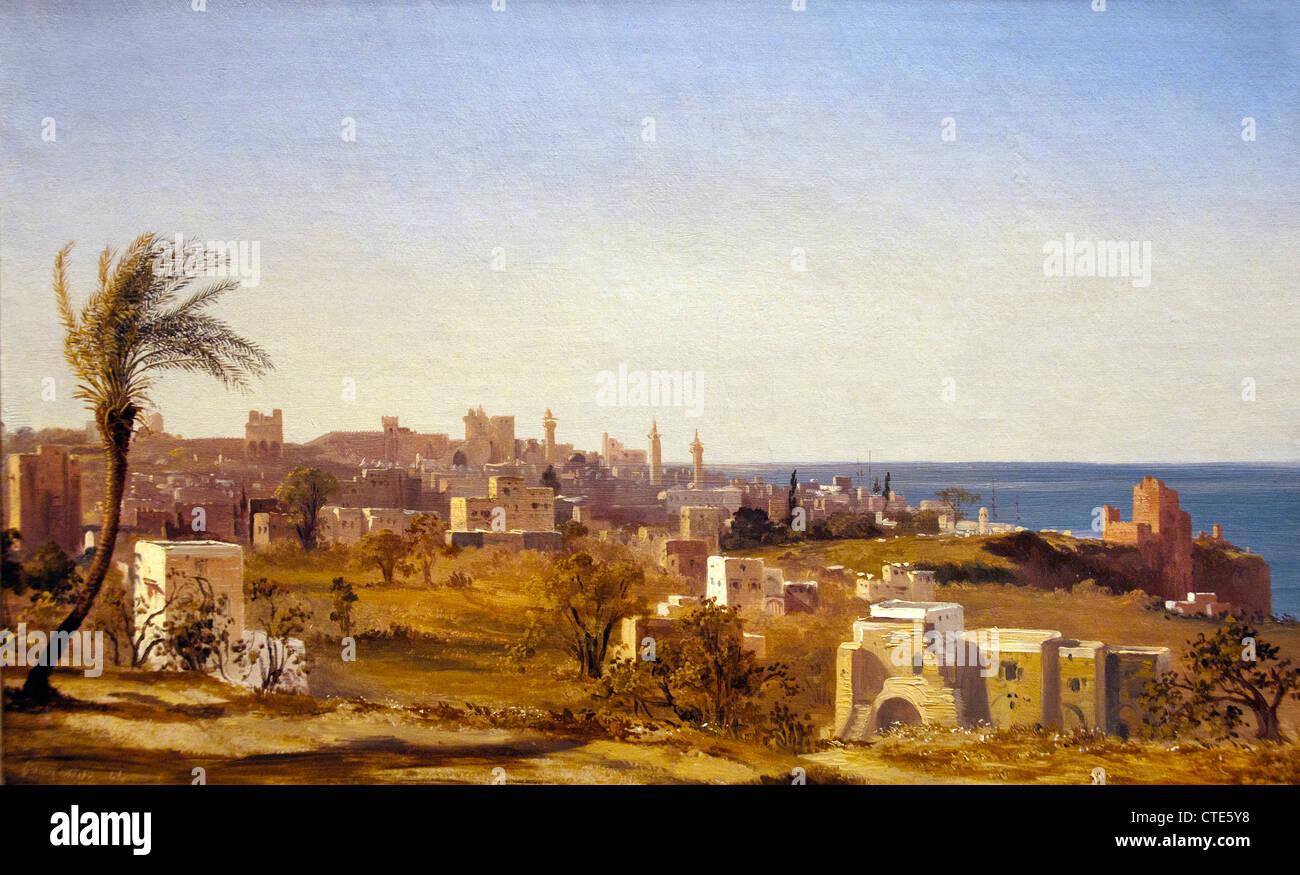 Vista de Beirut 1844 por Jules Coignet 1798-1860 francesa France Imagen De Stock