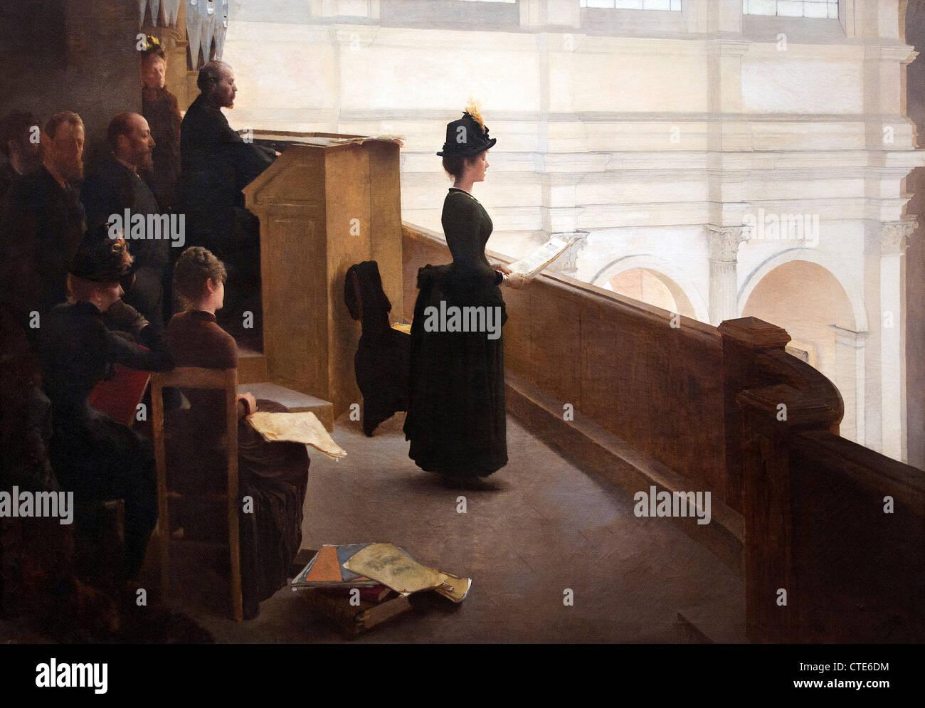 El Órgano ensayo por Henry Lerolle francés Francia Paris 1848-1929 Imagen De Stock