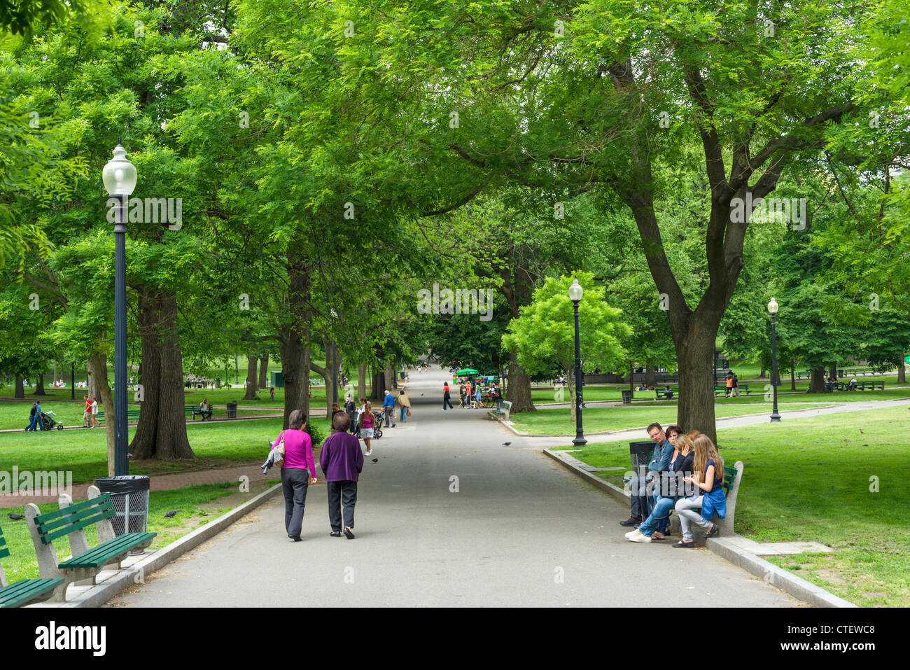 Boston Common, Boston, Massachusetts, EE.UU. Imagen De Stock