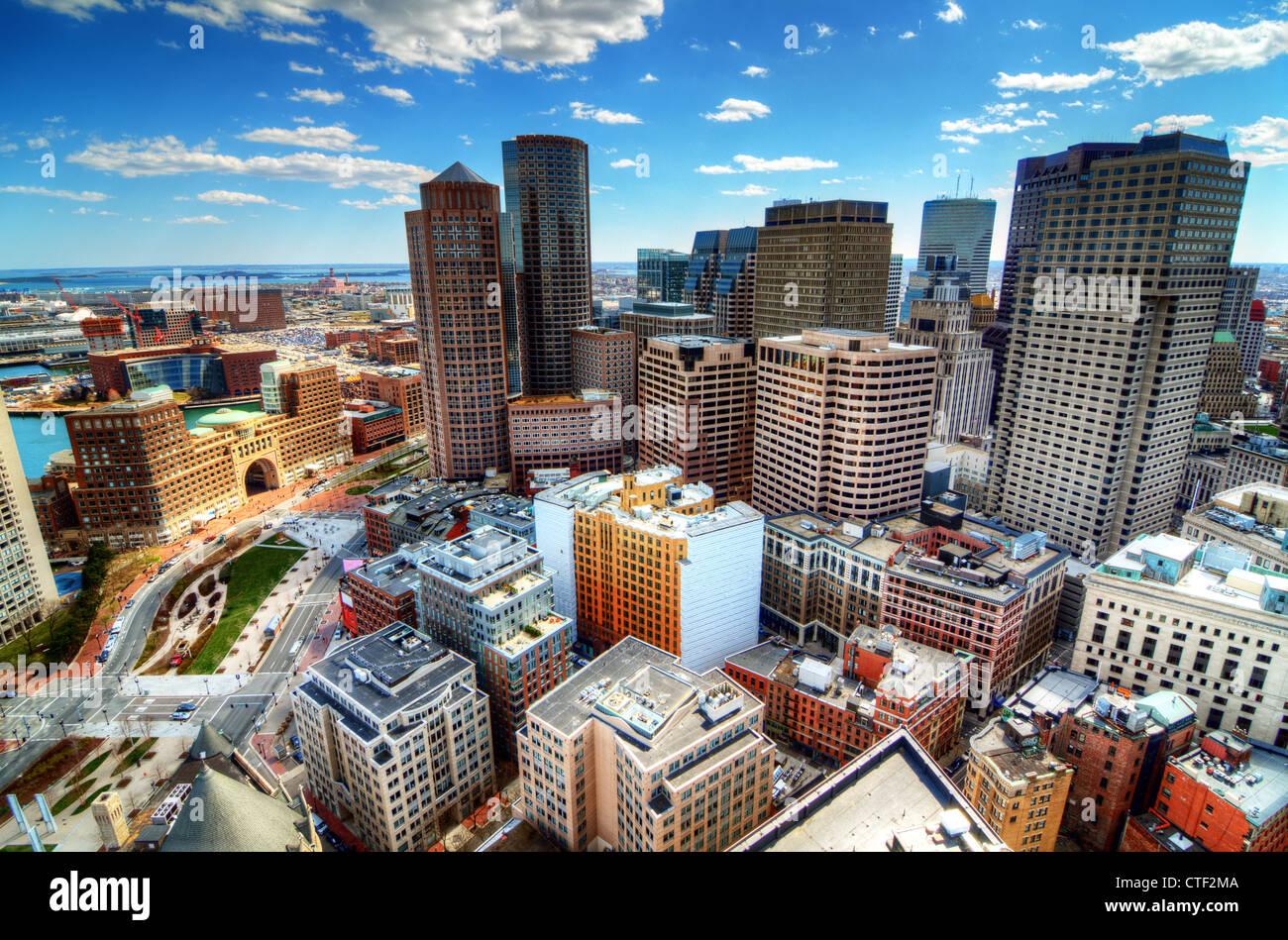 Los edificios en el centro de Boston, Massachusetts Imagen De Stock