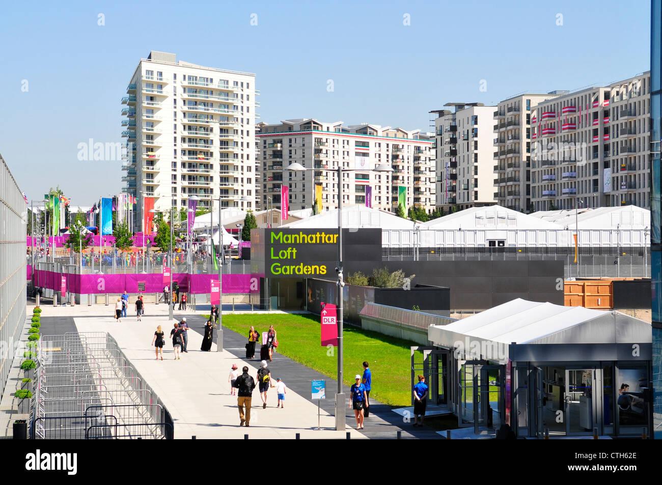 Aldea de Atletas en los Juegos Olímpicos de Londres 2012, Stratford, Londres Foto de stock
