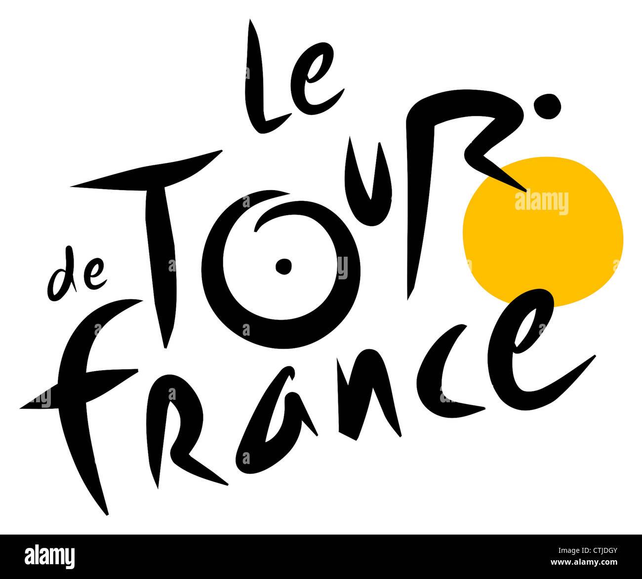 Logotipo de las carreras de bicicletas en el Tour de Francia. Imagen De Stock