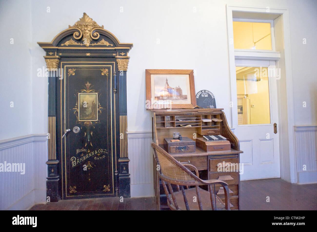 La oficina del director, en la antigua penitenciaría estatal de Idaho, Boise, Idaho, USA. Foto de stock