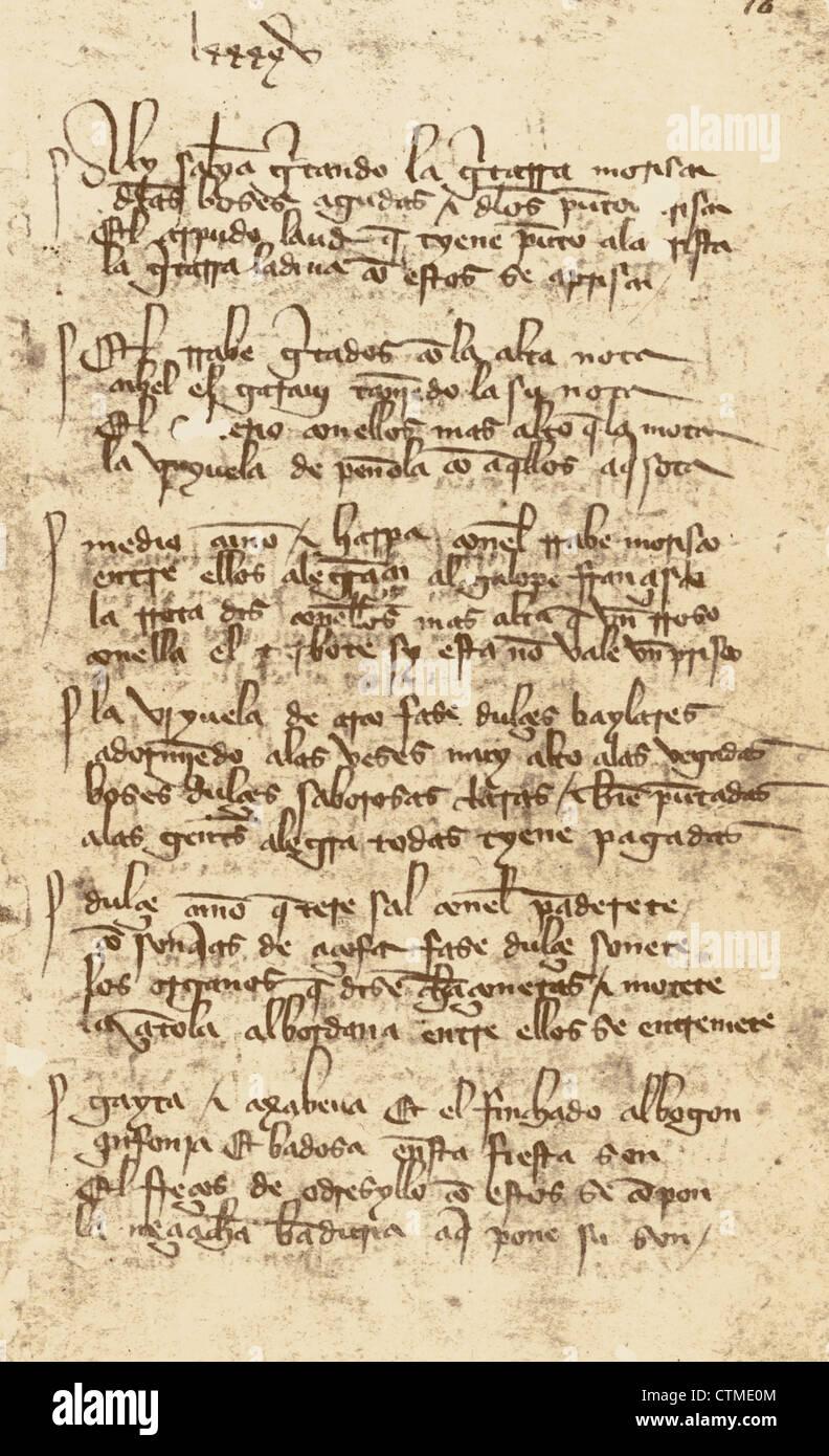El Libro de Buen Amor (El Libro de Buen Amor). Por Juan Ruiz, arcipreste de Hita (ca.1283-ca. 1350), que data de Imagen De Stock
