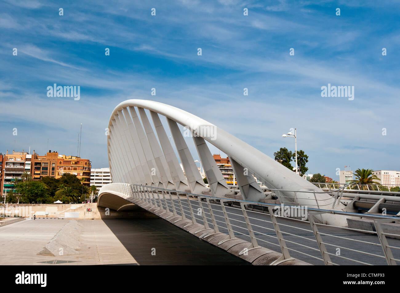 Puente de exposición por el arquitecto Santiago Calatrava, Valencia, España Imagen De Stock