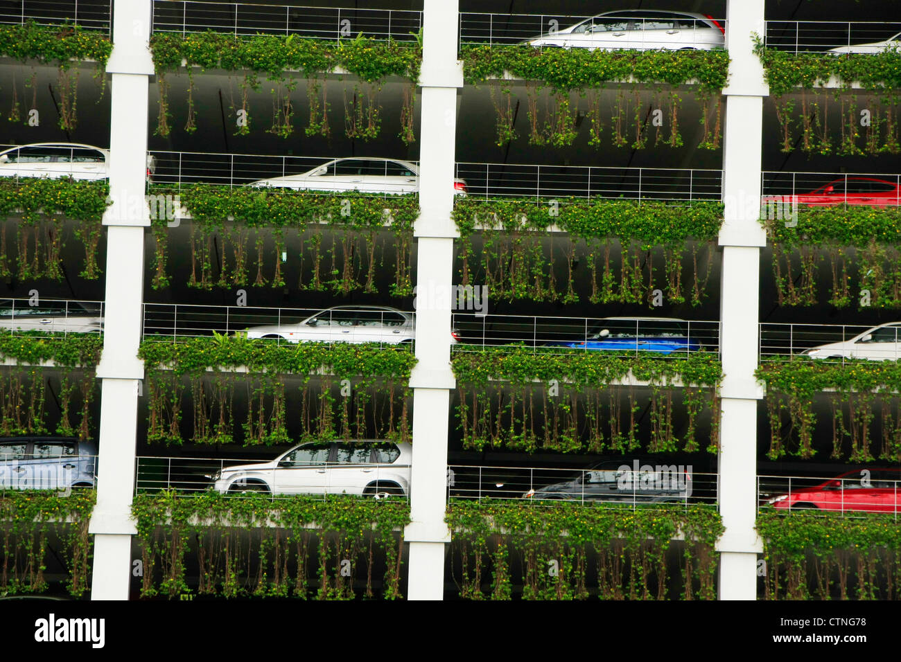 Aparcamiento de varios pisos garaje, Bandar Seri Begawan, Brunei, en el sudeste de Asia Foto de stock