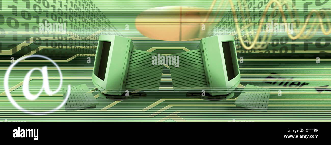 Componer EDV und Internet Imagen De Stock