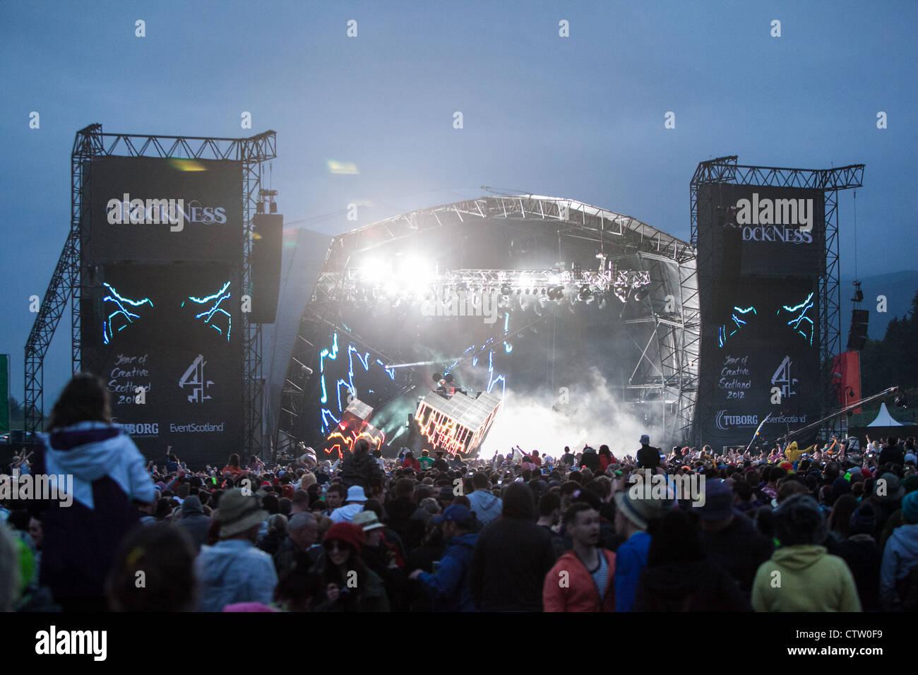 Escenario en un Festival de Música de Verano Imagen De Stock