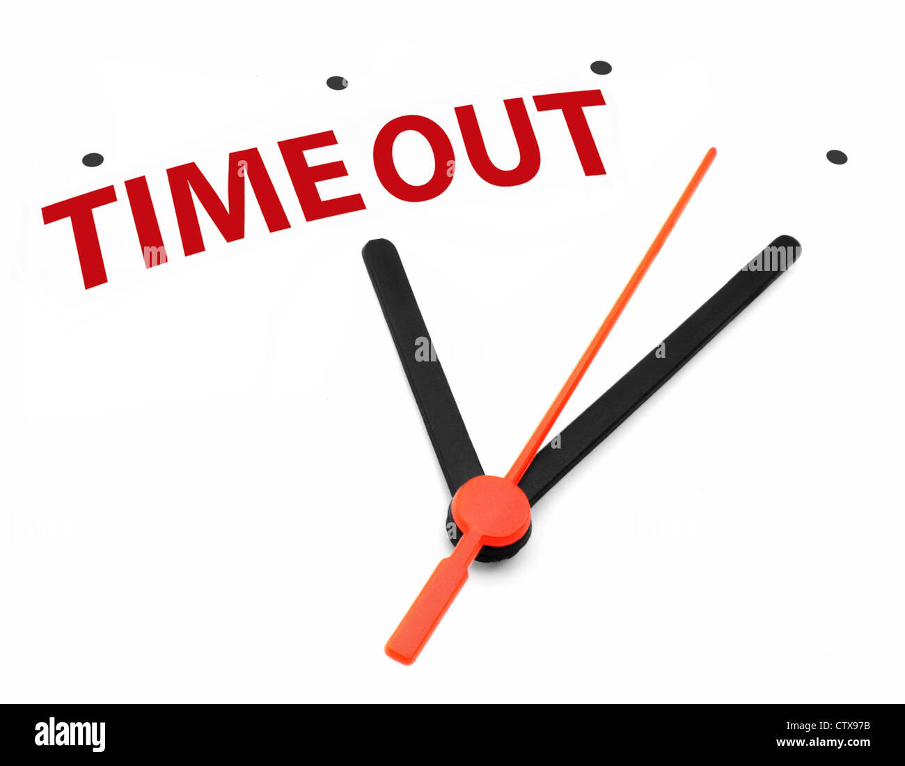 Teniendo tiempo concepto reloj Imagen De Stock