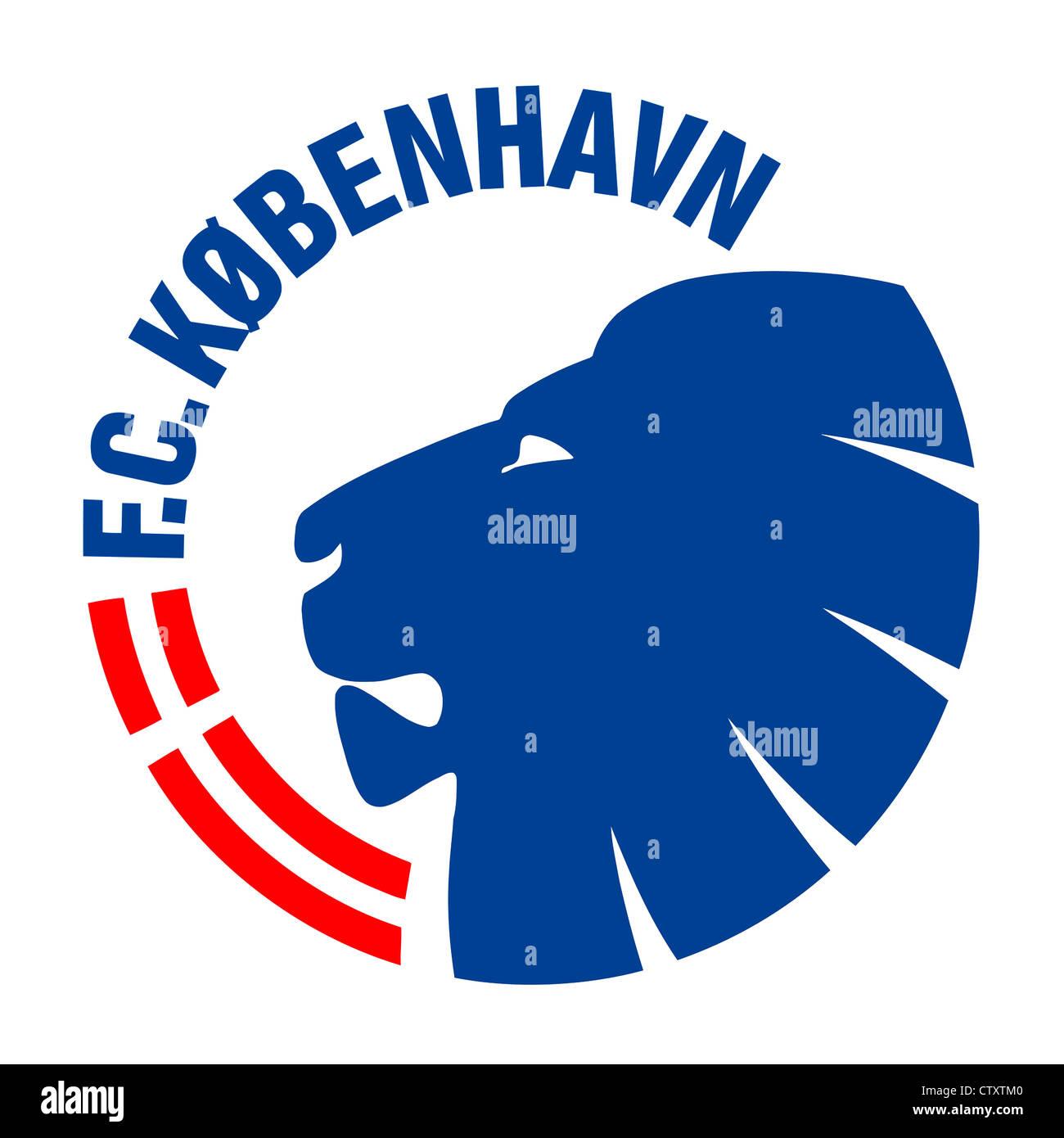 El logotipo del equipo de fútbol danés FC Copenhague. Foto de stock