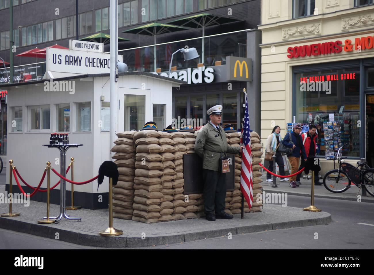 Alemania, Berlín, Checkpoint Charlie Imagen De Stock