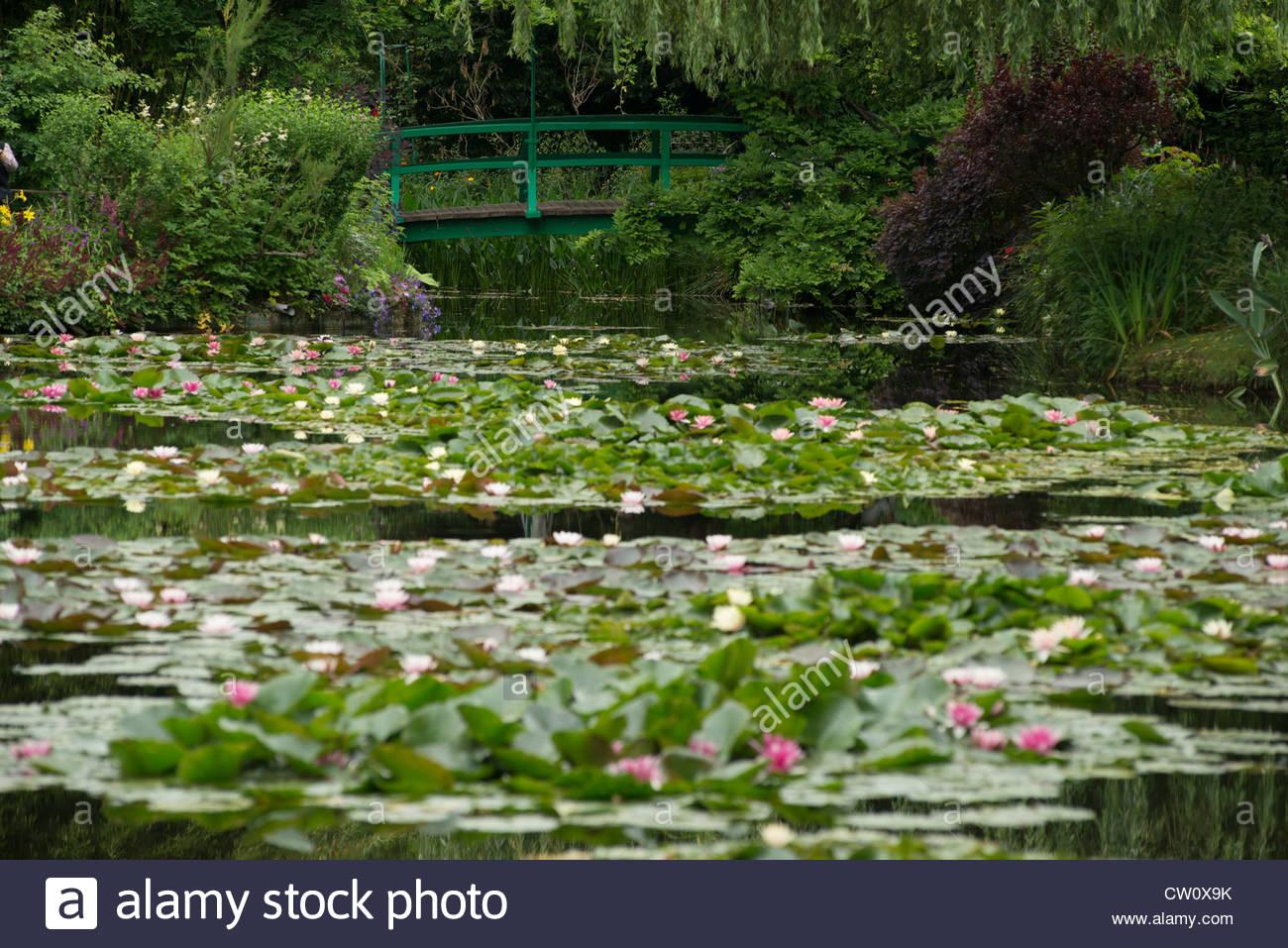 Monets garden monet im genes de stock monets garden for Jardin acuatico