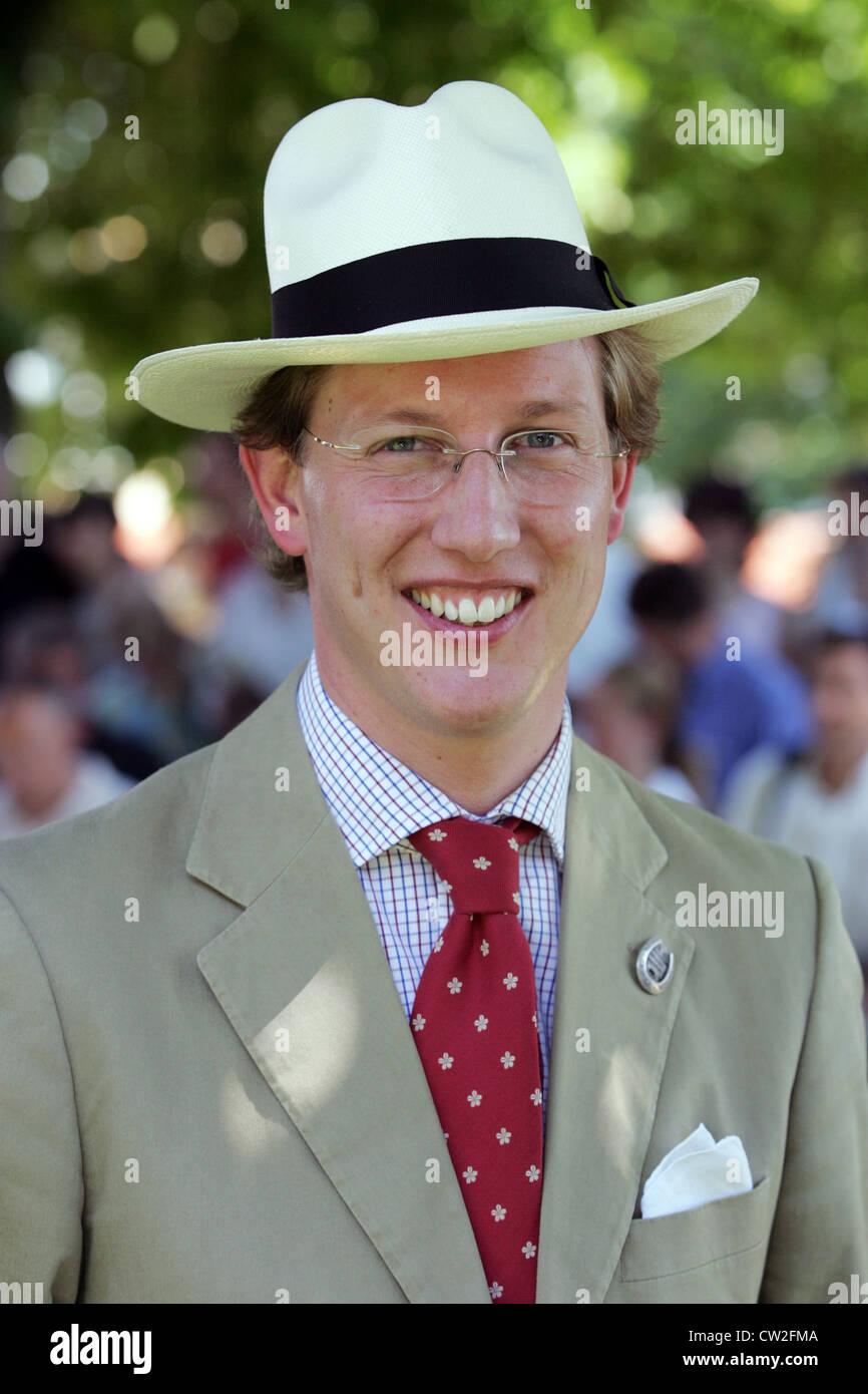 El príncipe Bernhard de Baden en vertical Foto de stock