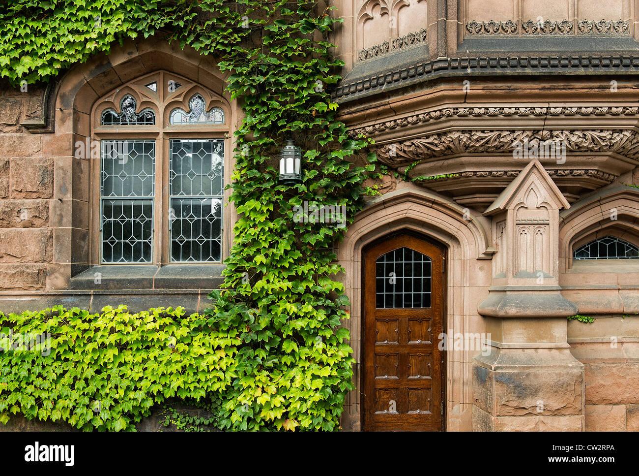 Arquitectura de la Ivy League, de la Universidad de Princeton, Nueva Jersey, EE.UU. Imagen De Stock