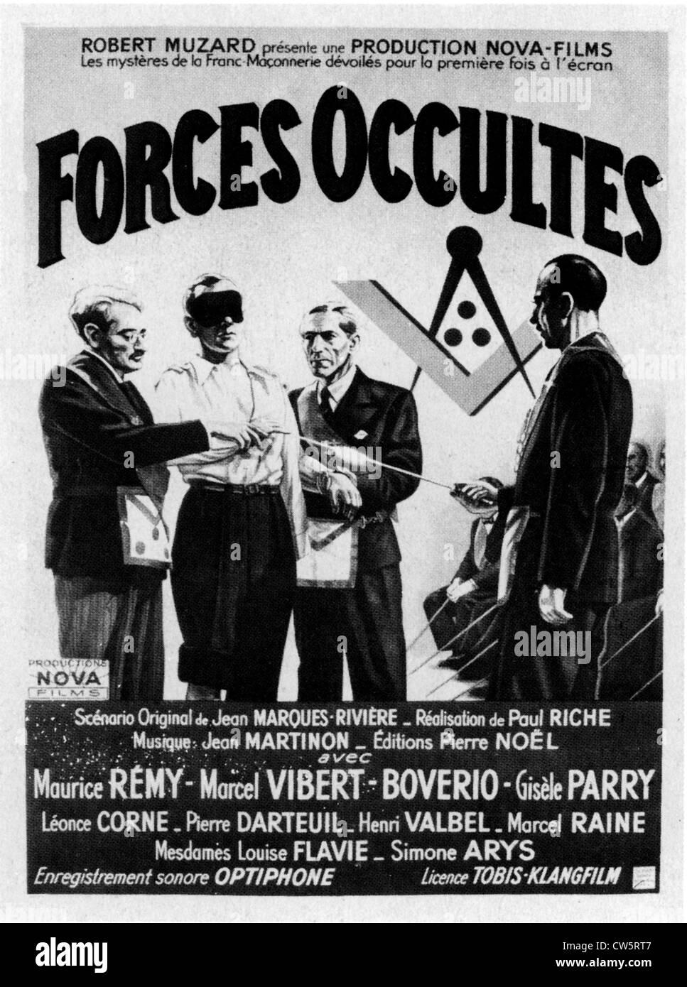 """Cartel de la película """"Fuerzas occultes' Imagen De Stock"""