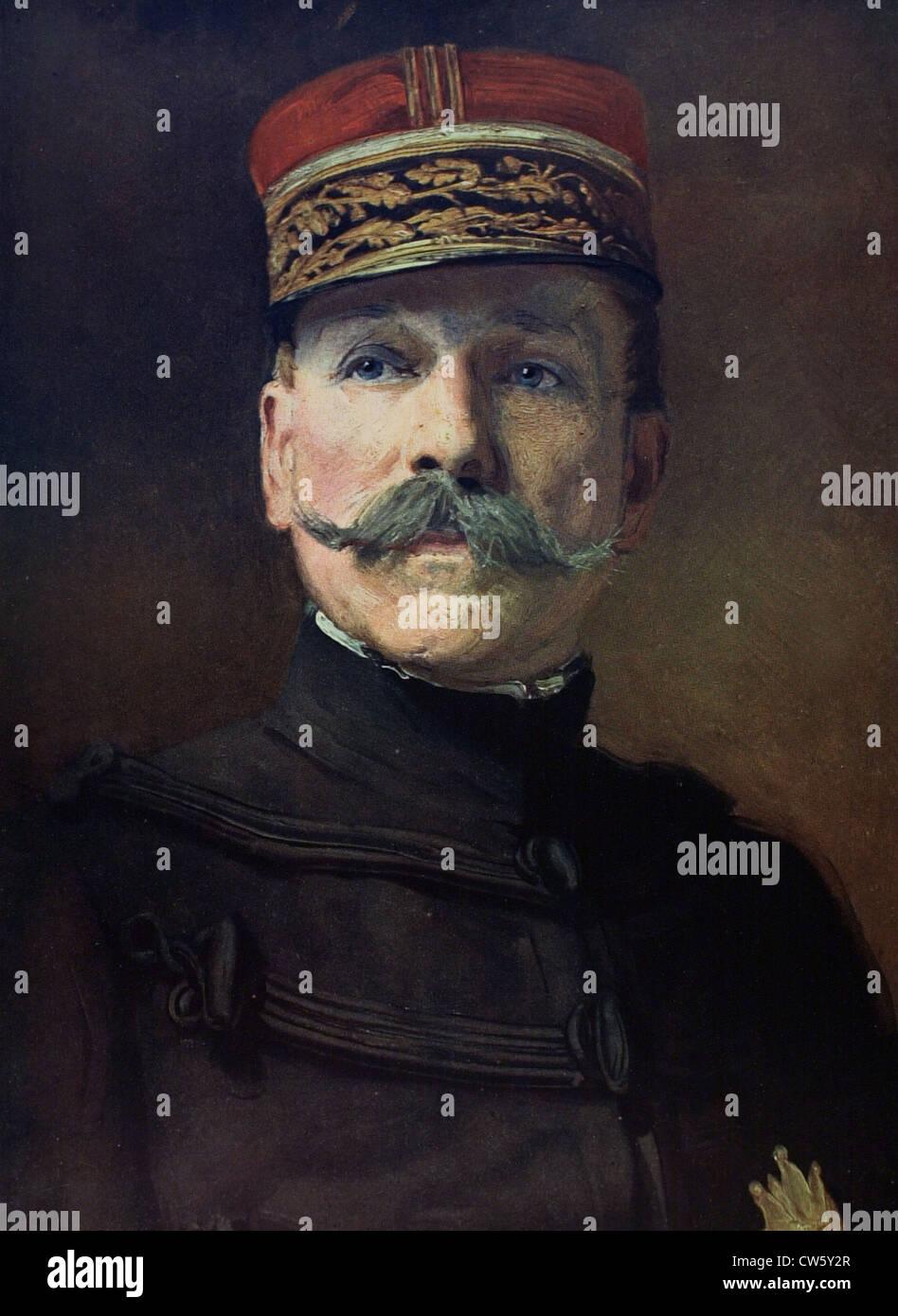 Guerra Mundial I. General Dubail Foto de stock
